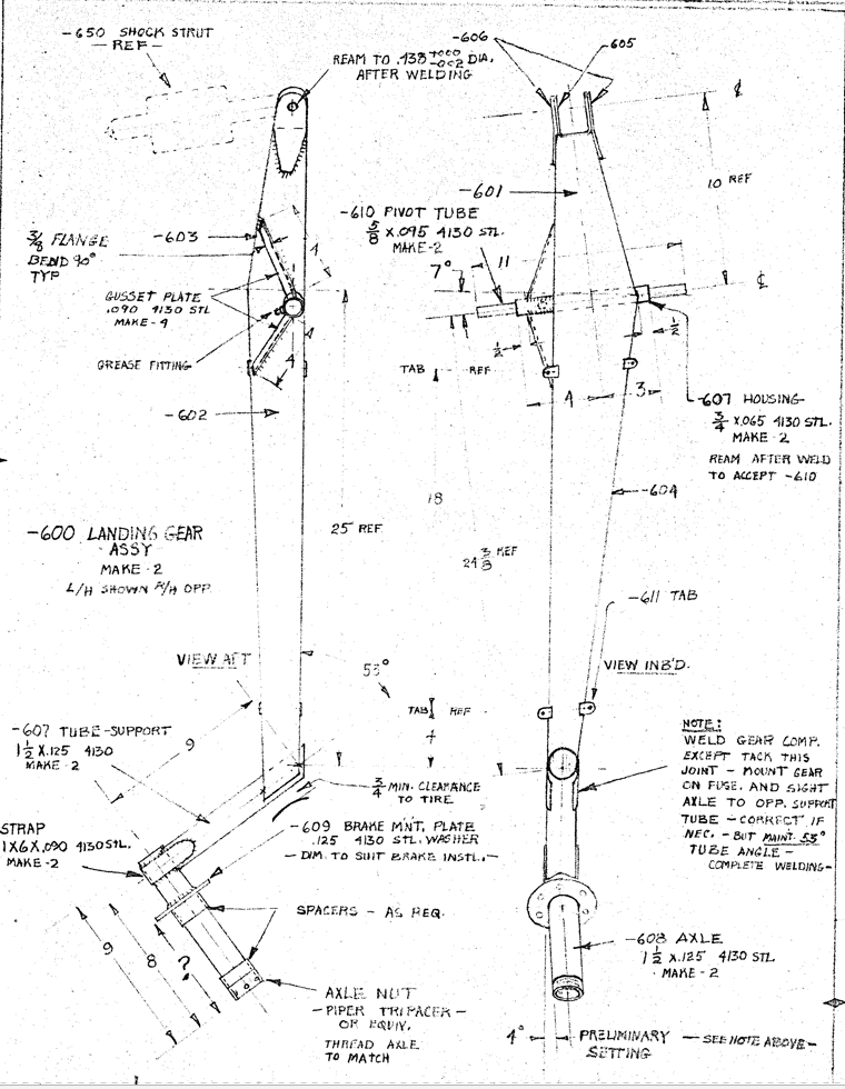 Charger gear leg diagram