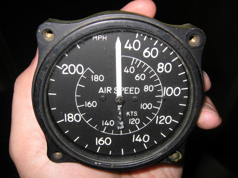Airspeed indicator diagram