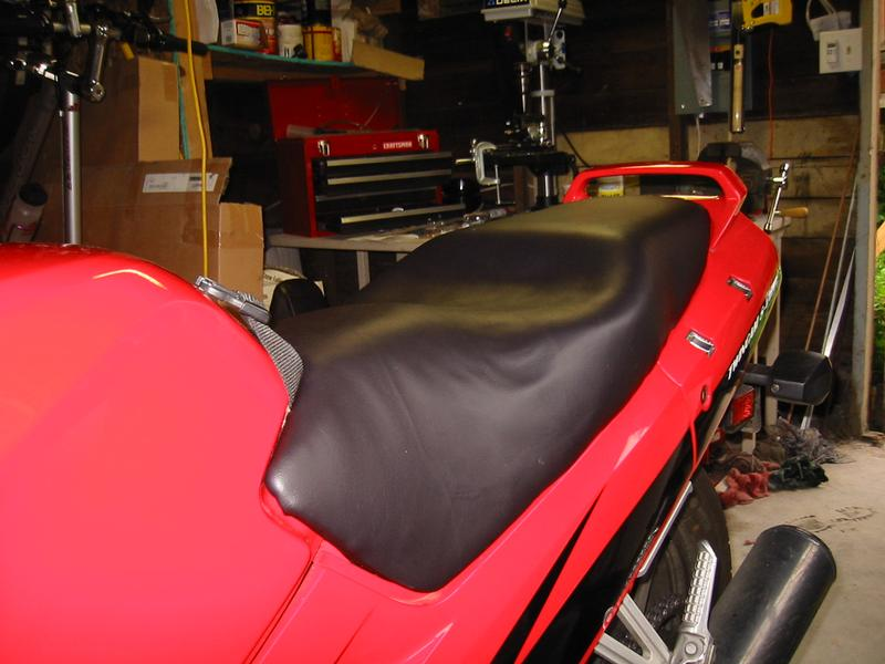 How To Reshape A Motorcycle Seat - Stretch vinyl for motorcycle seat