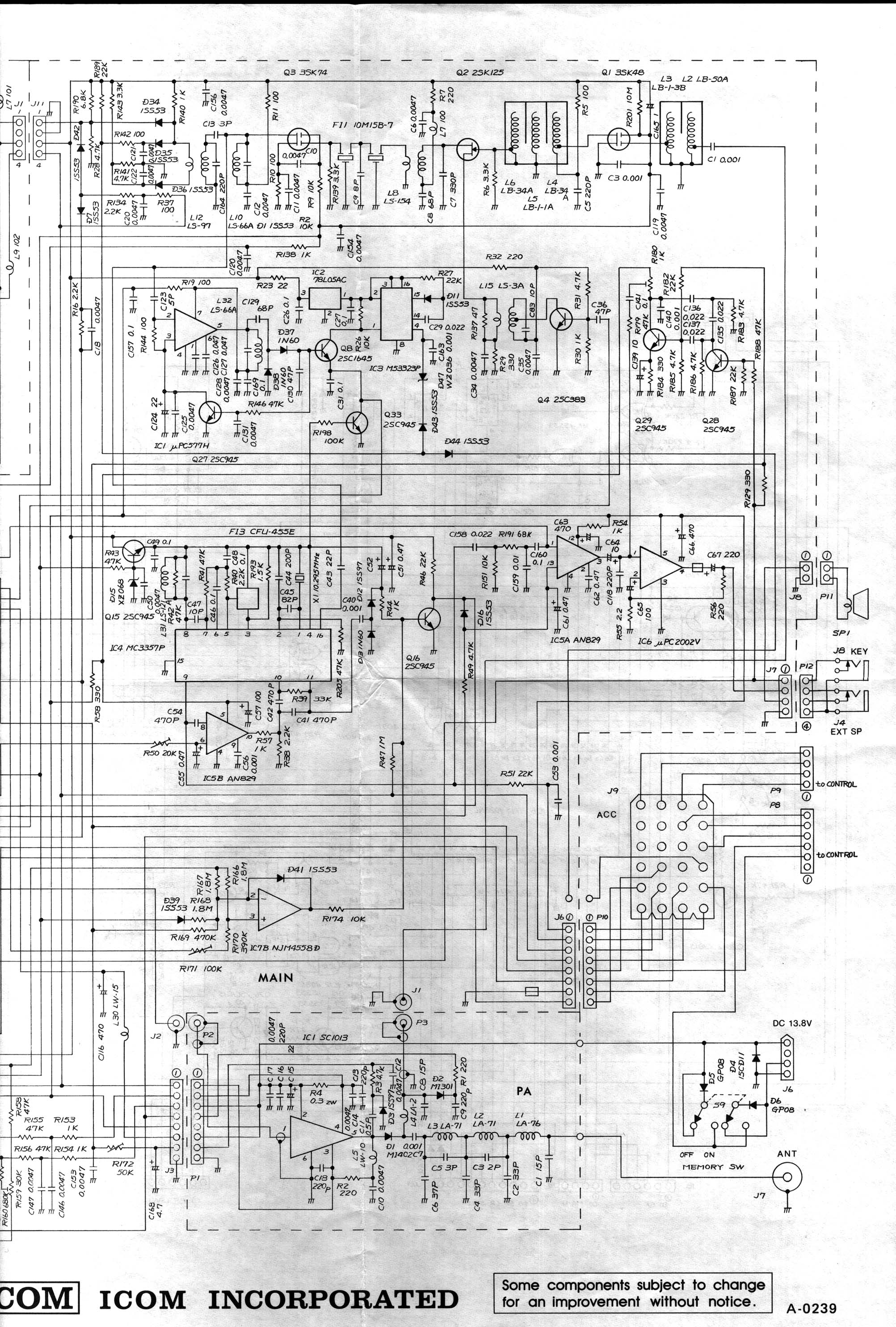 Icom Battery Pack Wiring Diagram E 34 Images Subaru Ea81 1 Ic 260a Schematics And Parts Layout Basic 12 Volt Diagrams At Cita